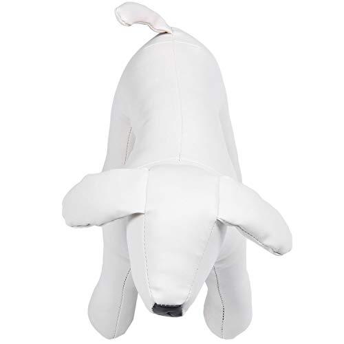Tashido Leather Perro Maniquí, posición en pies, modelos de perro, juguete, tienda de animales, color blanco, talla M