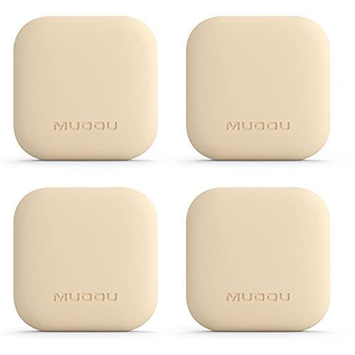 xinlianxin Juego de 4 tiradores anticolisión para puerta, puerta de nevera, silicona, protección anticolisión (color: beige)