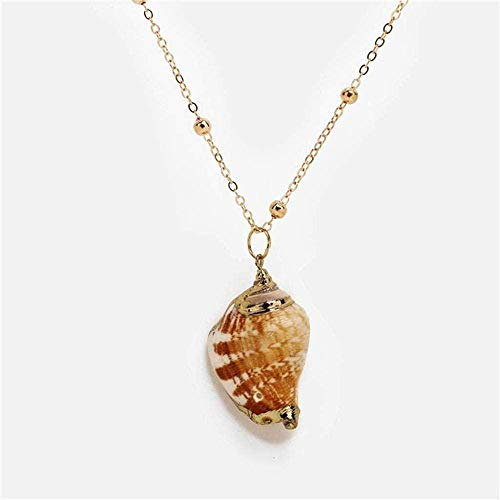 huangxuanchen co.,ltd Necklace Necklace Bohemia Colorconch Shell Necklace Big Geometric Ocean Beach Necklace for Women Party Gift Jewelry