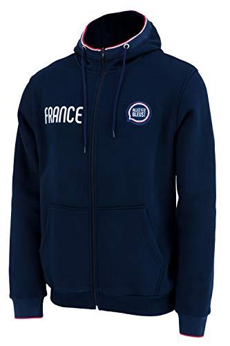 Allez Les Bleus Sweat zippé à Capuche France - Collection Officielle Homme - L