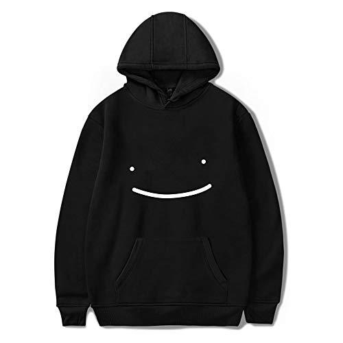 WAWNI Dreamwastaken Dream Smile Merch Hoodie Sweatshirt Herren Damen Harajuku Kleidung Übergröße XXS-4XL Gr. XL, schwarz 1