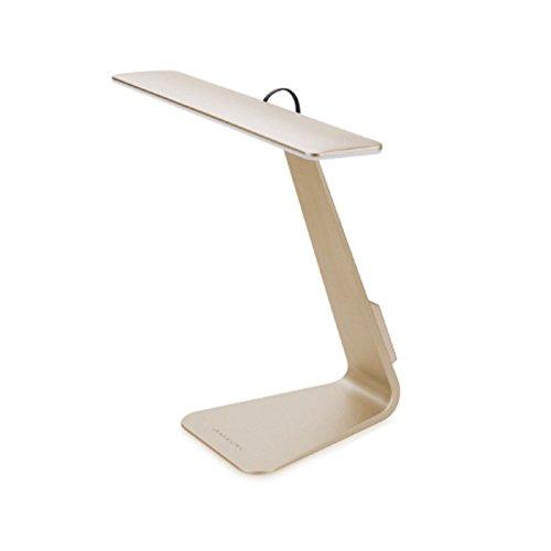 VANSUKY Lampe de table rechargeable à LED (800 mA), commande tactile à 3 niveaux réglables, base en ABS LED pour bureau à domicile + abat-jour lampe de bureau de lecture Lampes de table à charge USB, design élégant pour la décoration de la maison et du bureau(Doré)