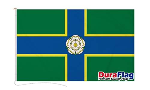 Duraflag North Riding of Yorkshire - Banderas de Yorkshire (1,5 m x 3 m, con cuerda y conmocionado, calidad premium, 5 x 3 m, banderas de Yorkshire del Norte