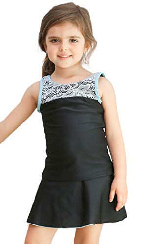 Plus Nao(プラスナオ) スクール水着 セパレート 2点セット 上下セット キッズ ジュニア 女の子用 子供用 女子 女児 UPF50+のUVカット タン ブルー 140cm