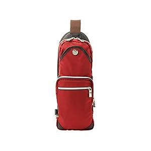 (オロビアンコ) Orobianco バッグ BAG メンズ ボディバッグ スリングバッグ ナイロン レザー giacomio 並行輸入品 (レッド2)