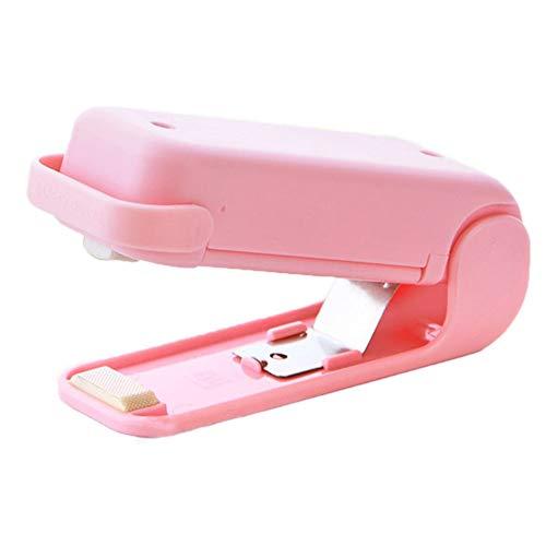 Tree-es-Life Mini máquina de Sellado portátil para el hogar, máquina laminadora de Alimentos, máquina de Sellado de Bolsas de plástico para bocadillos, Rosa