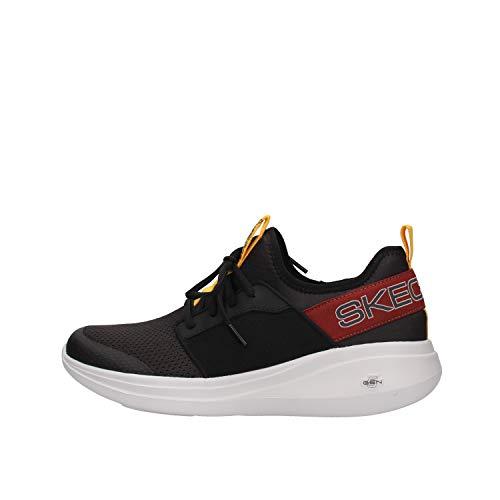 Skechers Herren Go Run Fast Steadfast Slip On Sneaker, Blau (Black Textile/Multi Trim Bkmt), 43 EU
