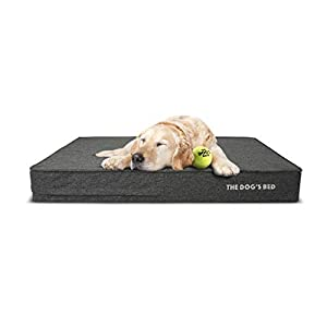 """Replacement Outer Cover ONLY (Outer Cover ONLY – NO Bed, NO Waterproof Inner) for The Dog's Bed, Washable Quality Poly-Linen Fabric, Extra Large 46"""" x 28"""" x 6"""" (Grey)"""