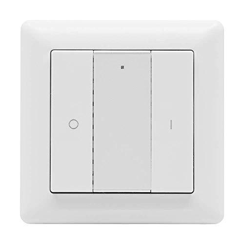 icasa 2 Knopf funktaster | Ein/Aus -Dimmen | Passt in 55mm Rahmen | Kompatibel mit Zigbee 3.0 Gateway