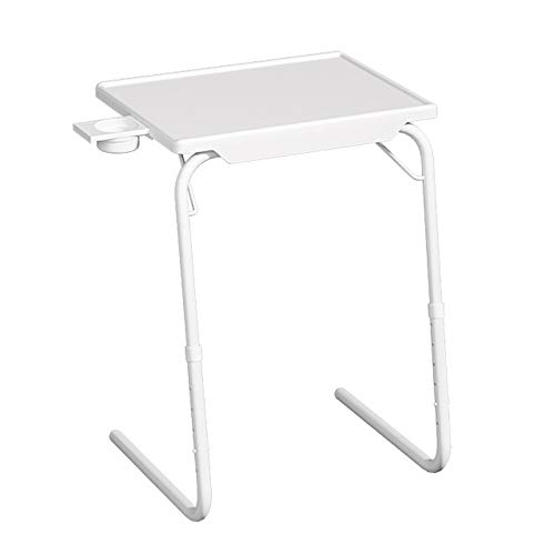 Household products Simple Notebook Side Bed Table with Rotating Cup Holder, Angle & Height Adjustable Cost-Effective Rolling Workstation, Sofa/Bed Side Table Stand