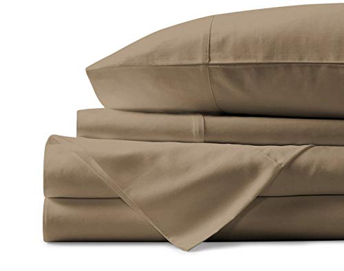 Mayfair Linen 100% Egyptian Cotton Sheets, Taupe King Sheets Set, 800 Thread Count Long Staple Cotton, Sateen Weave for Soft and Silky Feel, Fits Mattress Upto 18'' DEEP Pocket