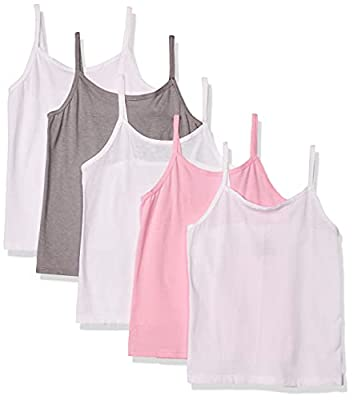 Hanes Girls' Tagless Cotton Cami Multipack, Assorted - 5 Pack, X-Large from Hanes Girls 7-16 Underwear