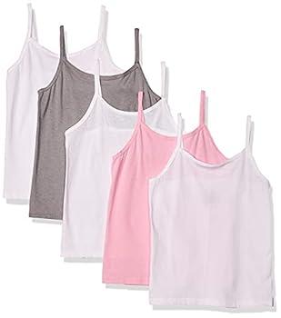 Hanes Girls  Tagless Cotton Cami Multipack Assorted-5 Pack Medium