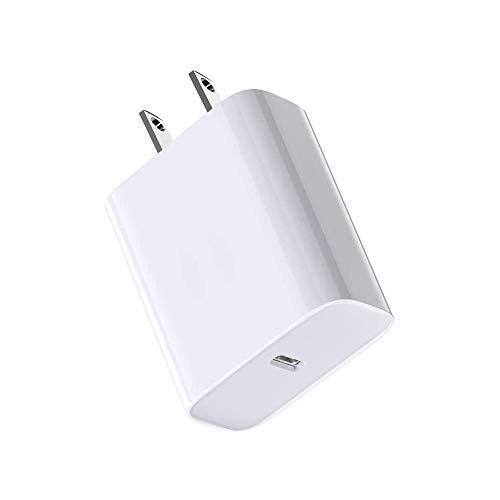 XFEN - Cargador USB C de 18 W PD, cargador rápido de pared tipo C, entrega de energía para iPhone SE 11 Pro Max Xs Max XR X 8 Plus, AirPods Pro, iPad Pro, Google Pixel 3a XL, Samsung Galaxy S10+ S9+, LG V50 ThinQ G8