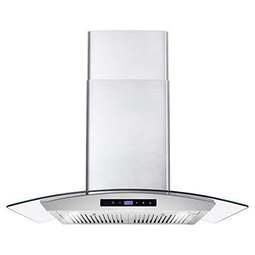 Cosmo 668WRCS75 Wall Mount Range Hood with Ducted Exhaust Vent
