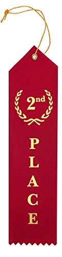 Award Ribbons Place 1st 2nd 3rd 4th 5th Premium Flat Carded Set - Blue Red White Yellow Green & Event Card 12 Each (60 Pack) - by Clinch Star Photo #6