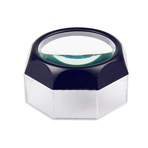 GYC 5X Lupen Desktop Mini Lens Old Man Reading Tragbare optische Glasstempel Münze Identifikation Sockel Lupe