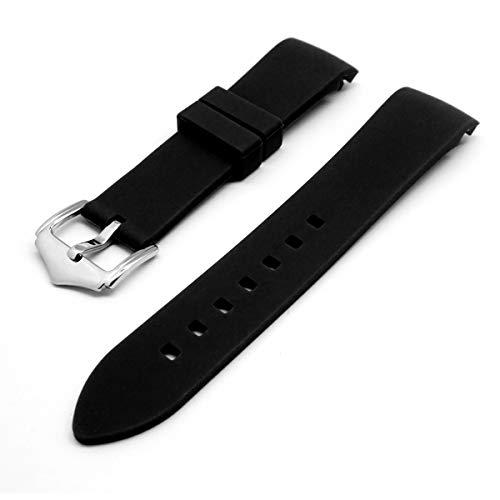 Adallor 18mm, 20mm, 22mm Cinturini Orologio Sportivo in Silicone con Fibbia in Acciaio Inossidabile per Uomo e Donna, a Sgancio Rapido Cinturino di Ricambio Caucciu per Orologio e Smartwatch