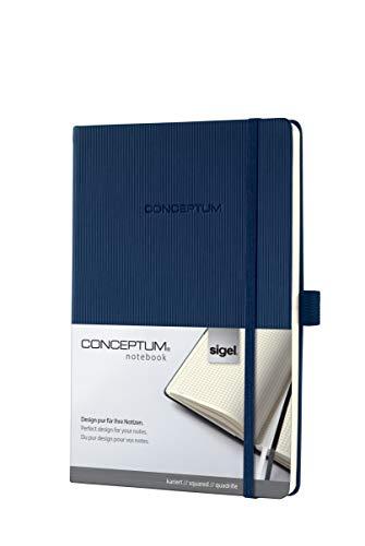 SIGEL CO656 Taccuino Conceptum, copertina rigida, 194 pagine a quadretti, circa A5, blu scuro