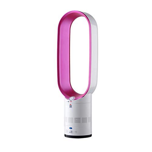 xzl Ventilador Sin Aspas,Ultra-silencioso Oscilante Suelo-pie Enfriador De Aire Ventilador con Mando A Distancia, Iones Negativos Ventilador,para Hogar/Oficina, Pink