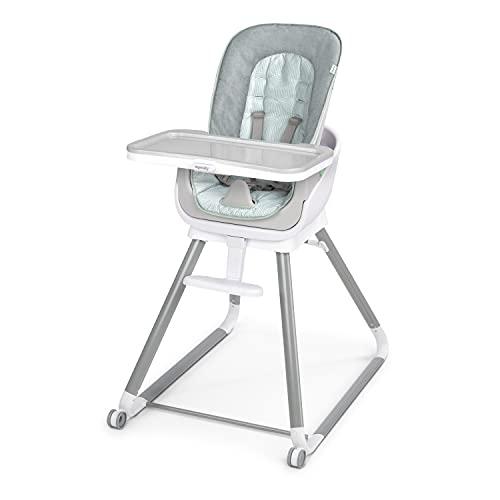 Ingenuity, seggiolone evolutivo Beanstalk 6-in-1, seggiolone per alimentazione con vassoio rimovibile e seggiolino di rialzo per bambini con vibrazioni rilassanti e arco di gioco, 0-5 anni, Ray