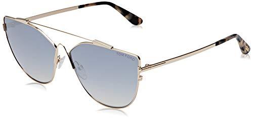 Tom Ford FT0563 28C Shiny Rose Gold Jacquelyn Cats Eyes Sunglasses Lens Categor