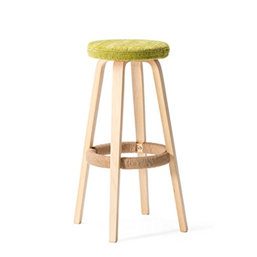 Tabouret en bois Tabouret de bar en bois massif/haut tabouret de bar tabouret à la maison chaise de bar, tabouret de bar tabouret boutique café (Couleur : #1)
