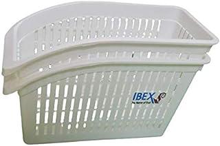 سلال منظمة بلاستيكية من اي بي اي اكس للثلاجة وحجرة المؤن وطاولة المطبخ والخزائن - مجموعة من قطعتين (موديل 2)