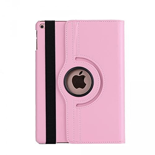 Cover-Discount Funda de Piel para iPad 9.7 2017, giratoria 360°, Color Rosa