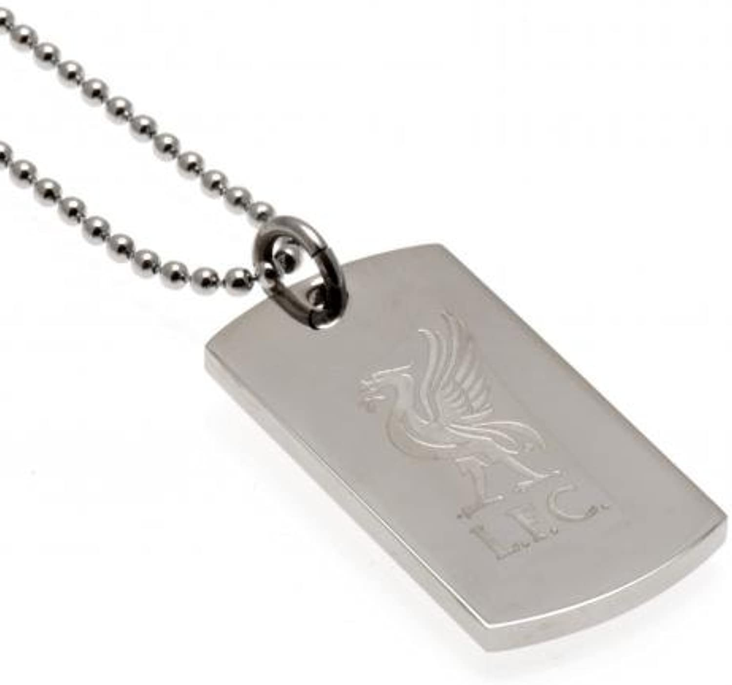 Engraved Crest Dog Tag & Chain  Liverpool F.C (LB)