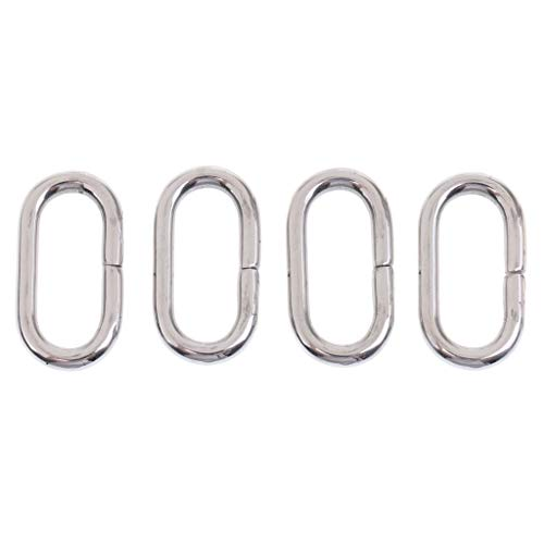 Hebillas de cinturón 4 piezas de acero inoxidable de plata anillo de nylon correa de hebilla de cinturón (Size : 22mm)