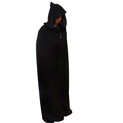 Rusisi Kostüm für Erwachsene, Halloween, Herren, Mittelalter-Kostüm, Tunika mit Kapuze, Umhang für Halloween