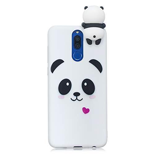 LeviDo Coque Compatible pour Huawei Mate 10 Lite Étui Silicone Cute 3D Panda Modèle Souple Bumper TPU Gel Caoutchouc Antichoc Cover pour Fille Homme Femme, Panda