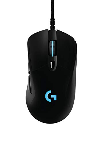 Logitech G403 kabelgebundene optische Gaming-Maus (mit 12.000 DPI und 16,8 Millionen Farben, geeignet für PC, Mac, USB) schwarz (Generalüberholt)