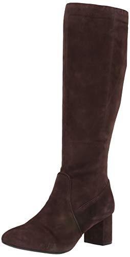 Aerosoles Women's Cannonball Knee High Boot, Dark Brown Suede, 6 M US