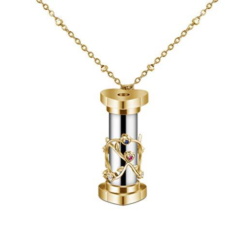 Tixiyu Mini-Kaleidoskop-Halskette, Schmuck, Edelstahl, Kaleidoskop-Halskette, Damen, Mini-Kaleidoskop, reflektierend, bunt, Anhänger für Frauen, Kinder, Geschenk