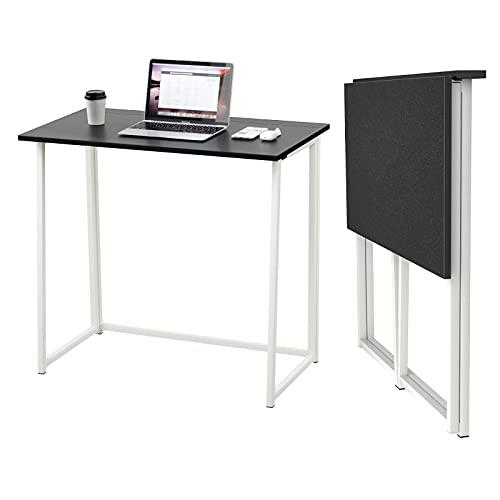 Dripex Mesa Escritorio Plegable, Mesa Ordenador, Compacto sin ensamblaje, Mesa de Estudio...