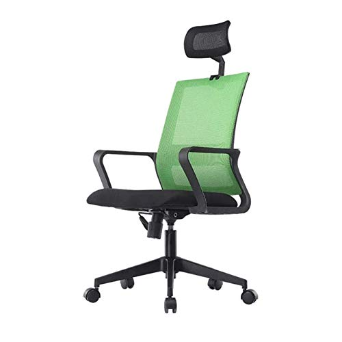 WSDSX Simple Office Chair Ergonomic Desk Chair with Breathable Mesh Back ,Armrest and Adjustable Lumbar Support,Height Adjustable Computer Chair (Color : D)