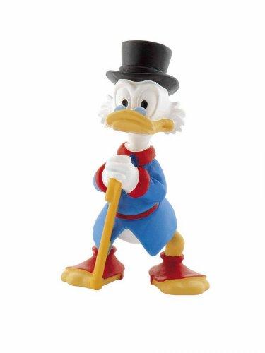 Bullyland 15310 - Spielfigur, Walt Disney Dagobert Duck, ca. 7,5 cm groß, liebevoll handbemalte Figur, PVC-frei, tolles Geschenk für Jungen und Mädchen zum fantasievollen Spielen