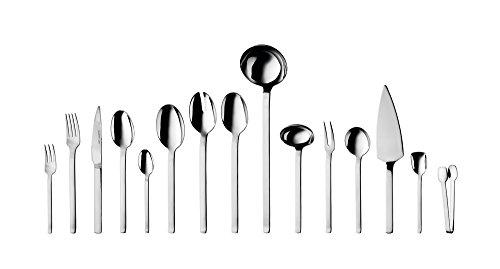 Berghoff Essence Besteck-Set, Edelstahl, Spiegelfinish, für 12 Personen, 46 x 34,5 x 10,5 cm, silberfarben, 72 Teile