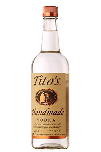 Tito´s Handmade Vodka 40% vol., 6-fach destilierter Wodka aus 100% Mais, Vodkamarke Nr. 1 in den USA (1 x 0.7 l) - 6