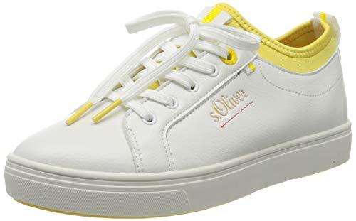 s.Oliver Damen 5-5-23603-34 Sneaker, Weiß (White/Yellow 166), 38