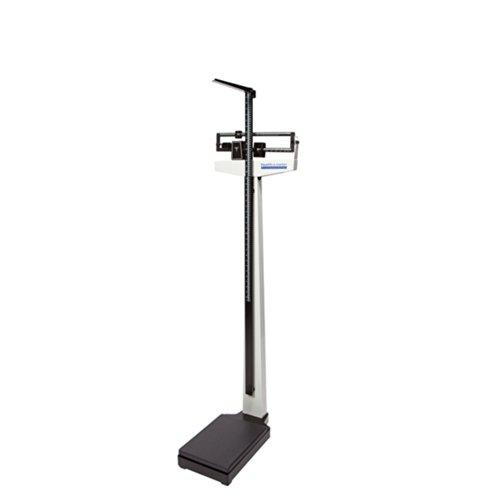 "Health O Meter 402LB Mechanical Beam Scale, Height Rod, 400 lb. Capacity, 10-1/2"" x 14"" x 3-1/4"" Platform"