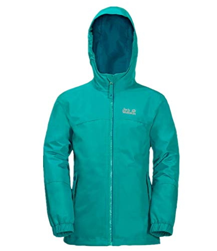 Jack Wolfskin Girls Iceland 3in1 Jacket Blau, Kinder Jacke, Größe 92 - Farbe Aquamarine