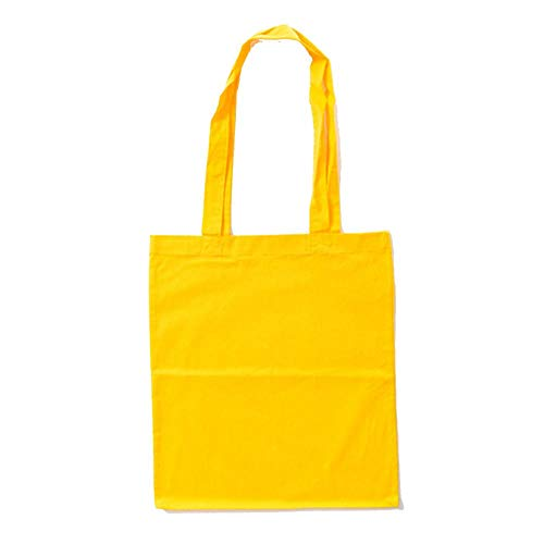 Bags by Jassz Stoffbeutel aus Baumwolle mit langen Henkeln (ca. 38 x 42 cm, Gelb)
