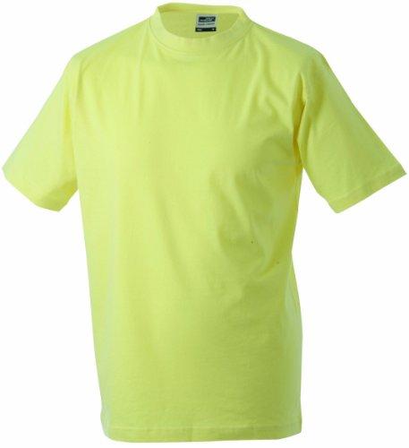 James & Nicholson Jungen Junior Basic Rundhals T-Shirt, Gelb (Light-Yellow), X-Small (Herstellergröße: XS (98/104))