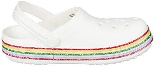 Crocs Kids' Crocband Glitter Clog | Glitter Shoes for Girls | Slip On Shoes