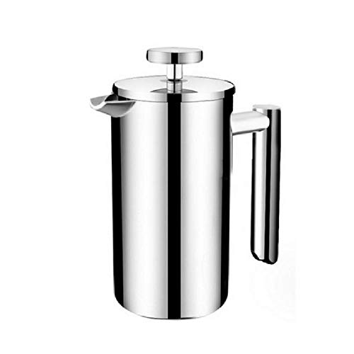 1pc Coffee Tea Pouring Kettle Insulated Stainless Steel French Presses Coffee Maker Best Double Walled Cafetiere Pot 350-1000ML,9 cups 1000ml