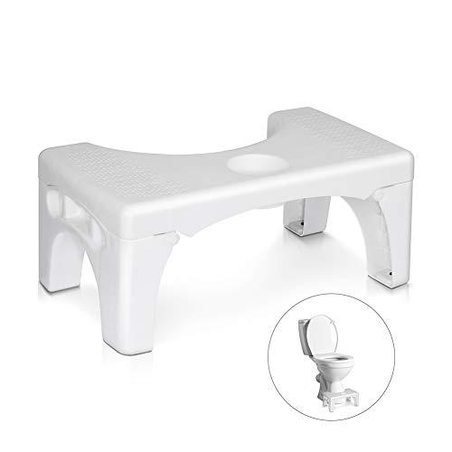 Openuye Toilettenhocker Klappbar Hocker für Toilette, WC Hocker Erwachsene Rutschfester Toilettenhockers, eine gesunde Sitzhaltung Medizinischer Toilettenhocker gegen Hämorrhoiden und Verstopfung