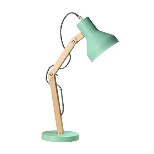 SHUTING2020 lámpara de Mesa Lámpara de Escritorio LED for Trabajo, luz de Lectura Ajustable de Madera, Adecuada for la Oficina del Dormitorio del Dormitorio - Verde Lámpara Noche (Size : M)